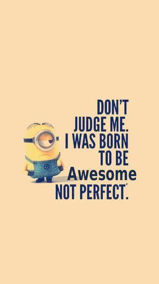 Обои на телефон я, цитата, судить, рожденный, правило, отношение, миньоны, классные, perfect, born to rule, awesome quote