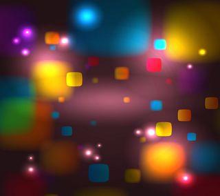 Обои на телефон куб, коробка, квадратные, боке, абстрактные, bokeh boxes