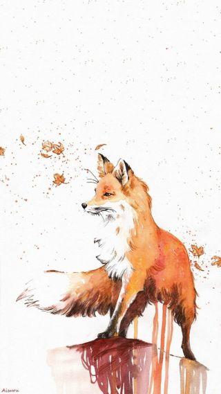 Обои на телефон лиса, животные, дикие