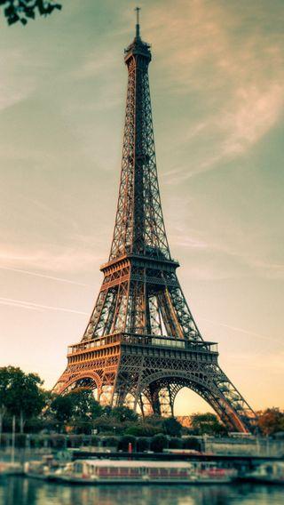 Обои на телефон эйфелева башня, франция, париж, море, городской пейзаж, башня