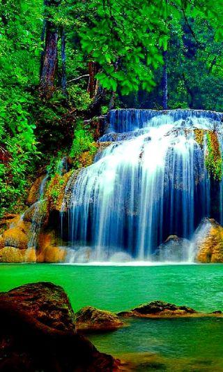 Обои на телефон приятные, природа, новый, лес, камни, естественные, водопад, вода