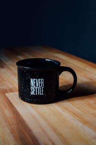 Обои на телефон настроение, цитата, технология, решить, никогда, мотивационные, высказывания, never settle
