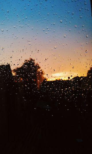 Обои на телефон окно, солнце, синие, небо, дождь, дни, вид, rainy days