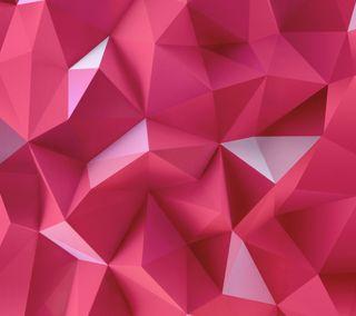 Обои на телефон треугольники, розовые, абстрактные, pink triangles, hex