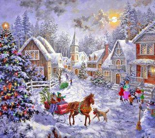 Обои на телефон холодное, счастливое, снег, рождество, зима, дерево, время