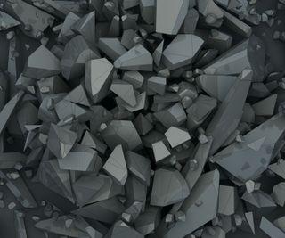 Обои на телефон цифровое, кристаллы, абстрактные, digital crystals