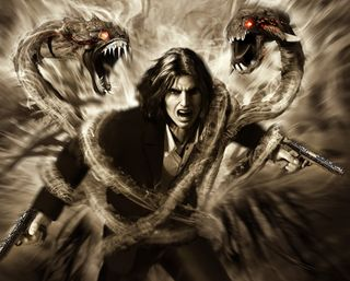 Обои на телефон тьма, игра, змея, зло, дракон, вампиры, videog game, dragon, darkness 2