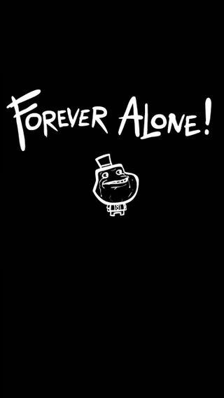 Обои на телефон эмо, навсегда, черные, одиночество, forever alone, alone forever