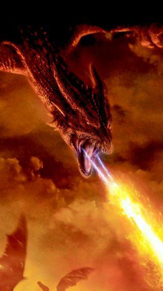 Обои на телефон полет, летать, пламя, огонь, небо, крыло, дракон, fires, dragon