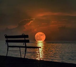 Обои на телефон одиночество, луна, alone  full moon