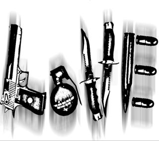 Обои на телефон оружие, любовь, love, kills, bullet, 2013