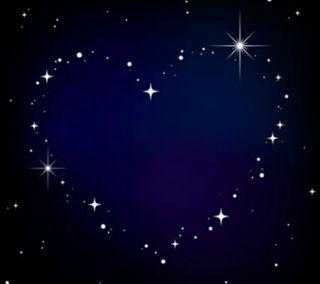 Обои на телефон love, любовь, синие, сердце, космос, звезды, другие