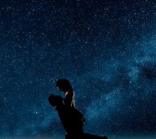 Обои на телефон вместе, черные, ночь, небо, мужчина, любовь, звезды, девушки, together4ever, male and female, love