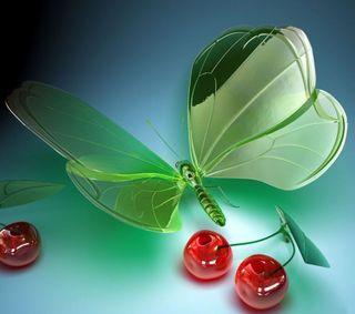 Обои на телефон изображение, бабочки, butterfly 3d image, 3д, 3d image