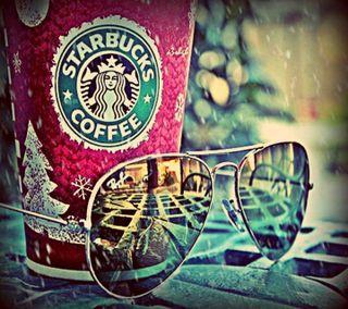 Обои на телефон старбакс, солнечные очки, кофе
