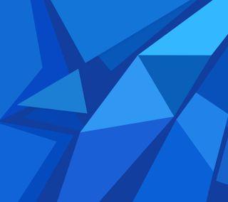 Обои на телефон многоугольник, хуавей, стандартные, синие, абстрактные, p10, huawei, hd