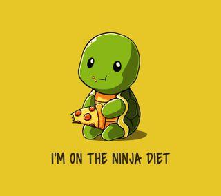 Обои на телефон черепаха, пицца, ниндзя, высказывания, diet