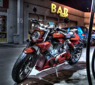 Обои на телефон пицца, мотоциклы, кастом, италия, бар