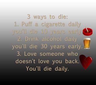 Обои на телефон алкоголь, цитата, умри, сигареты, поговорка, новый, любовь, крутые, love, 3 ways to die