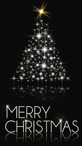 Обои на телефон праздник, темные, счастливое, рождество, дерево