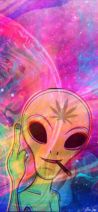 Обои на телефон сигареты, пришелец, красочные, дым, галактика, galaxy