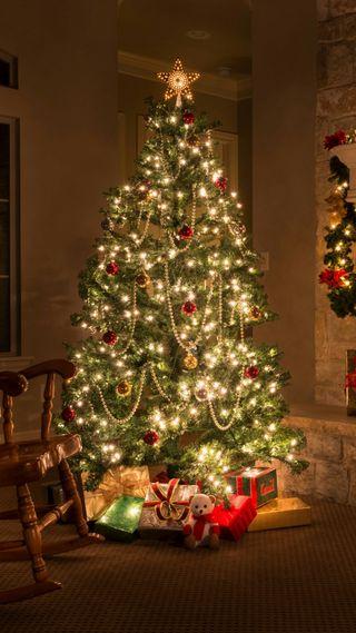 Обои на телефон рождество, icio, albero natale