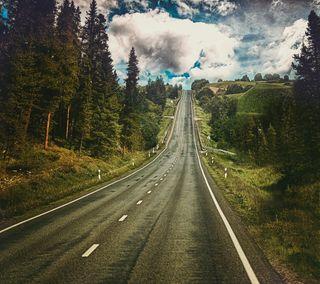 Обои на телефон дорога, горы