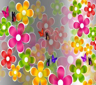 Обои на телефон коллаж, цветы, лето, бабочки