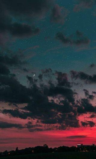 Обои на телефон пастельные, эстетические, облака, ночь, небо, закат, aesthetic night sky