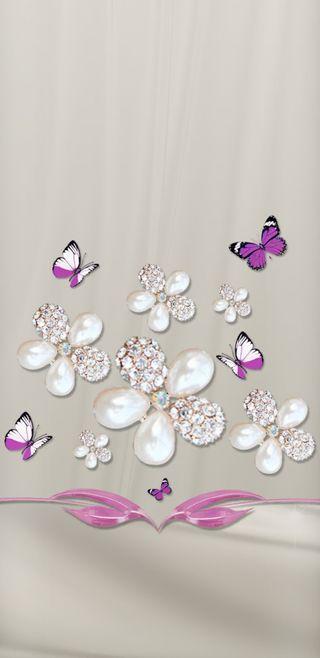 Обои на телефон цветы, цветочные, симпатичные, розовые, жемчуг, девчачие, бабочки, floralpearls