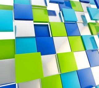 Обои на телефон геометрия, кубы, красочные, квадратные, абстрактные, 3д, 3d