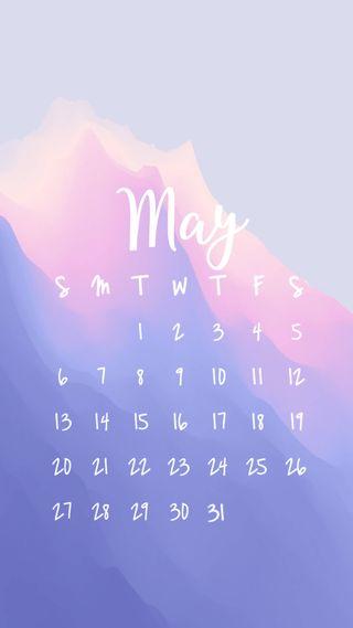 Обои на телефон календарь, пастельные, день, pastel may by day, may2018, may 2018