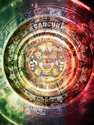 Обои на телефон современные, пирамиды, мир, мексиканские, календарь, арт, америка, mayan calendar, mayan, cancun, aztec, art