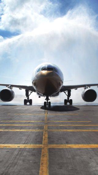 Обои на телефон старт, самолет, небо