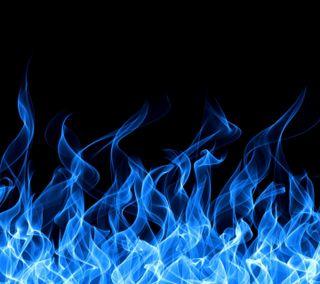 Обои на телефон огонь, синие