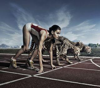 Обои на телефон против, женщины, тигр, девушки, women vs tiger