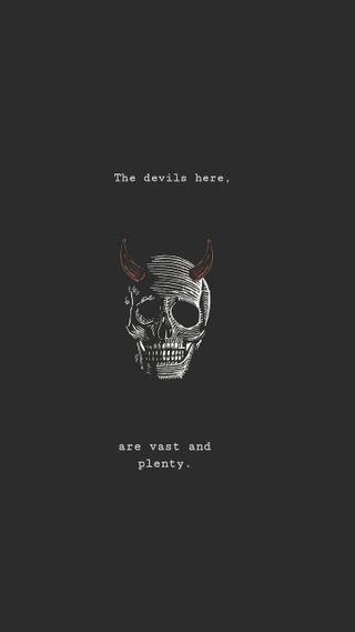 Обои на телефон эмо, черные, череп, дьявол, готы, внутри, goth goth, devil inside
