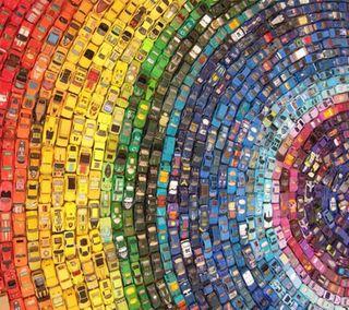 Обои на телефон цвета, машины