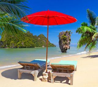 Обои на телефон остров, пляж, пальмы, океан, море, thailand