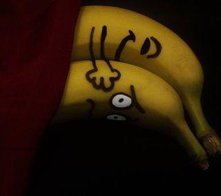 Обои на телефон обнимать, милые, любовь, забавные, банан, love