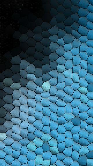 Обои на телефон мозаика, черные, синие