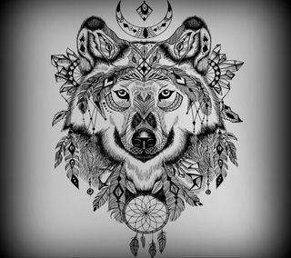 Обои на телефон art, абстрактные, арт, животные, волк, рисунки, векторные