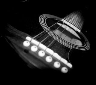 Обои на телефон гитара, черные, музыка, инструмент