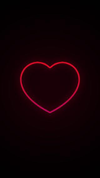 Обои на телефон линии, черные, сердце, розовые, простые, неоновые, любовь, красые, валентинка, love