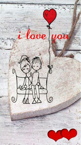 Обои на телефон ты, любовь, i love you