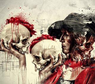 Обои на телефон голова, череп, сумасшедшие, страшные, странные, scary skull, scary head