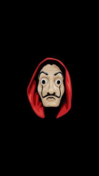 Обои на телефон dali, dali mask, de papel, hd, la casa, tv series, черные, маска, тв, ряд, икона, бумажный