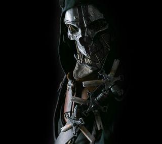 Обои на телефон маска, череп, игра, бетесда, dishonored