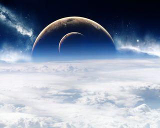 Обои на телефон планеты, облака, космос, звезды, planets stars, outerspace