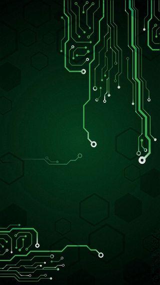 Обои на телефон технология, технологии, схемы, микросхема, линии, зеленые, абстрактные, motherboard